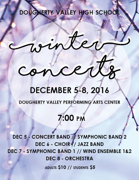 DVHS Music Winter Concerts 16-17