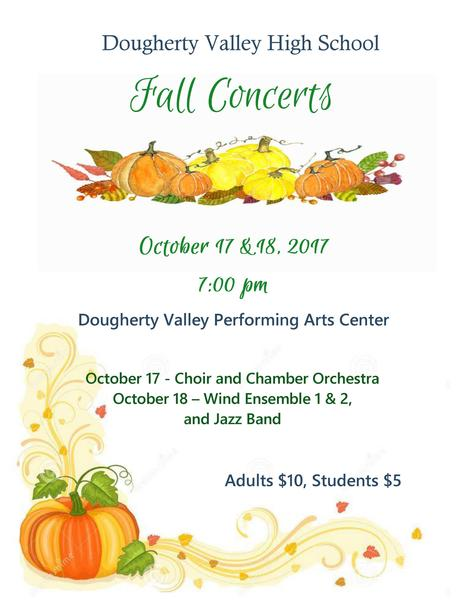 DVHS FALL MUSIC CONCERTS 2017