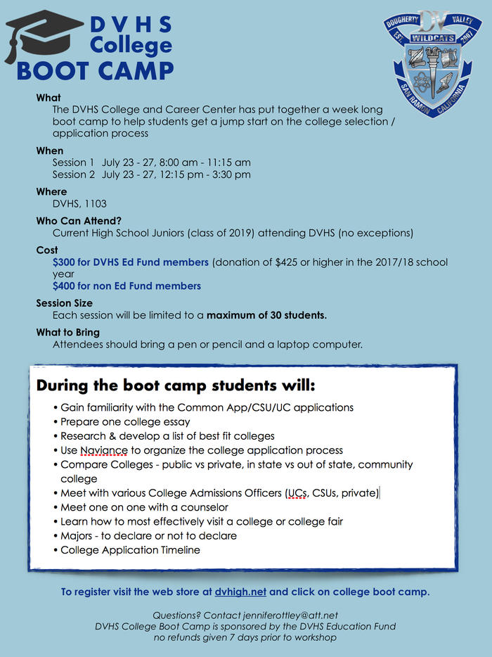 2018 College Boot Camp